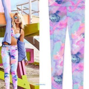 PINK Victoria's Secret Pants - RARE Victoria Secret PINK Watercolor Yoga Pants